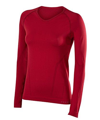 FALKE Warm Comfort Fit W L/S SH Couche de base supérieure Femme, Rouge (Ruby 8830), S