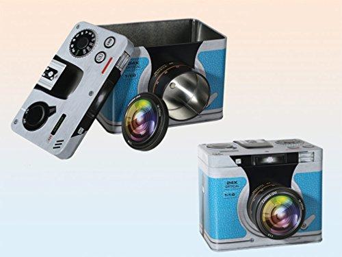 Caja Metálica Retro Cámara Fotográfica