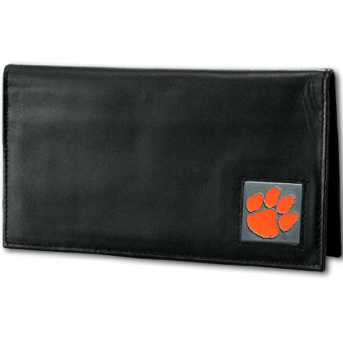 NCAA Siskiyou Sports Fan Shop Clemson Tigers Deluxe Leather Checkbook Cover One Size Black