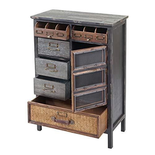 Mendler Apothekerkommode HWC-F34, Schubladenschrank, Tanne Holz massiv Vintage Shabby-Look 90x65x32cm