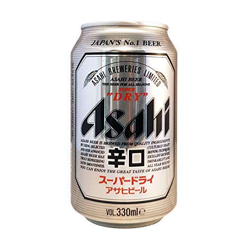 Birra super dry asahi in lattina - 330 ml