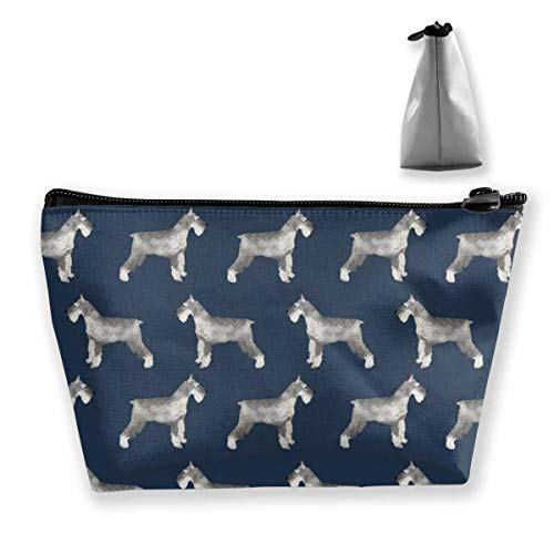 Schnauzer Dog Trapezoid Travel Cosmetic Storage Pouch Pochette