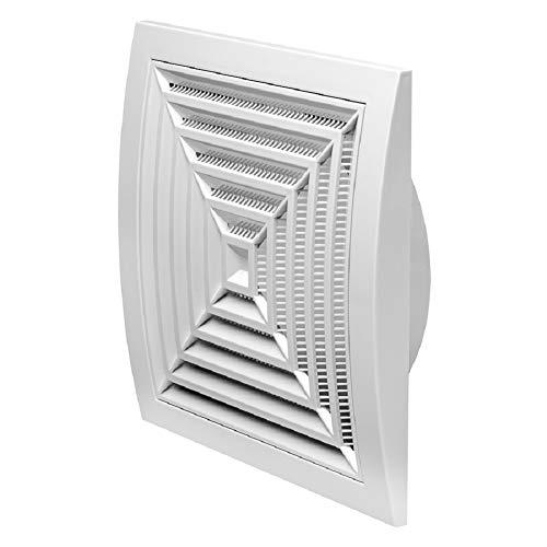 Ø 150mm Weiß Lüftungsgitter 190x190mm Abschlussgitter Insektenschutz ABS-Kunststoff Gitter