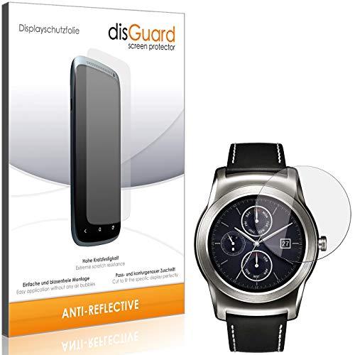 disGuard Displayschutzfolie für LG Watch Urbane LTE 2nd Edition [2 Stück] Anti-Reflex, MATT, Entspiegelnd, Extrem Kratzfest, Anti-Fingerabdruck - Displayschutz, Schutzfolie, Panzerfolie