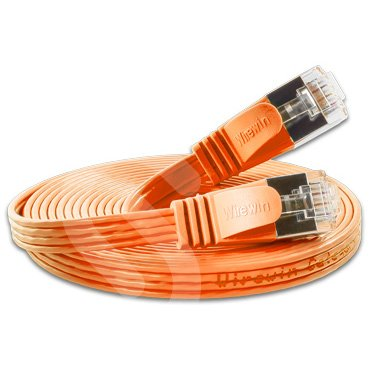 WIREWIN - Slim cat6 Cable de conexión Plana (rj45)   blindado   Naranja   25.0m   awg36 Fuerza de la Base   Cables de Red/Cable de Cinta/Cable de Alambre/LAN/ethernet   hasta 1000 mbit/s