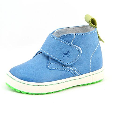 Babyschuhe Kinderschuhe Schuhe für Jungen blau mit Klettverschluss Modell Emel 2470 handmade (20)