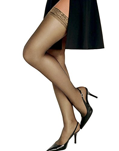 Hanes Women`s Set of 3 Silk Reflections Silky Sheer Thigh High - Best-Seller! AB, Little Color
