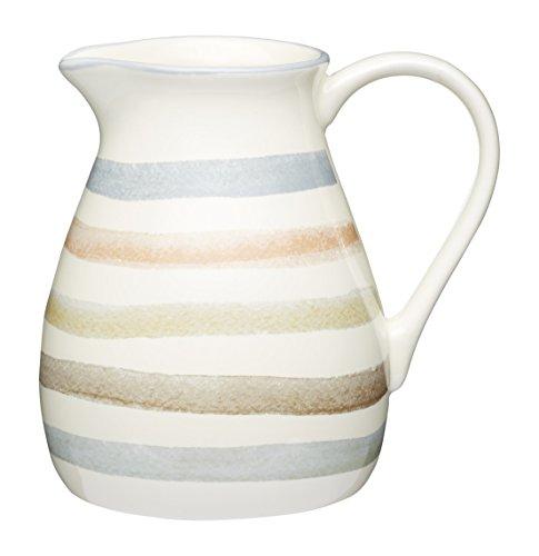 Kitchen Craft Classic Collection gestreift Keramik Milchkännchen, 500ml (17FL oz)–Creme