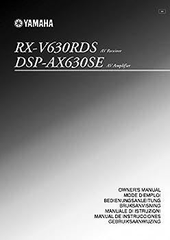 Yamaha RX-V477 RX-V577 Receiver Owners Manual [Plastic Comb] [Jan 01 1900] Misc [Plastic Comb]