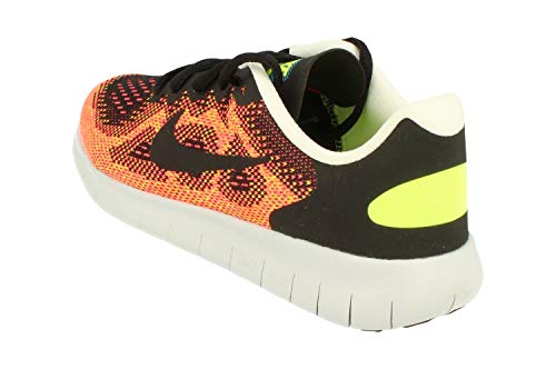 Nike Free RN 2017 GS Running Trainers 904255 Sneakers Shoes (UK 5 us 5.5Y EU 38, black hot punch 003)