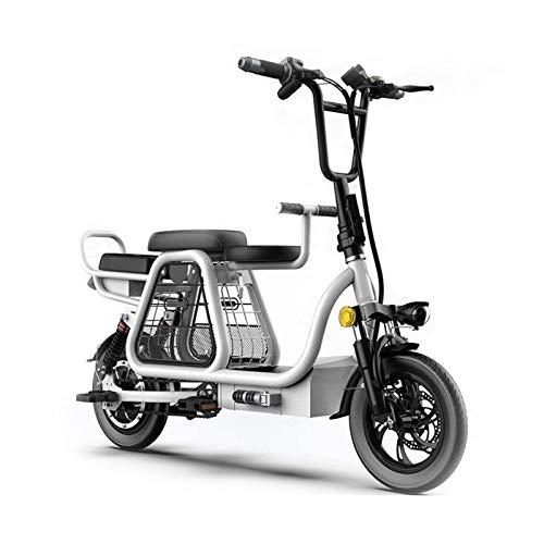 Lamyanran Bicicleta Eléctrica Plegable Adulto E-Bici Plegable de Iones de Litio con GPS Sistema de Posicionamiento Frontal y Posterior absorción de Choque Doble Bicicletas Eléctricas