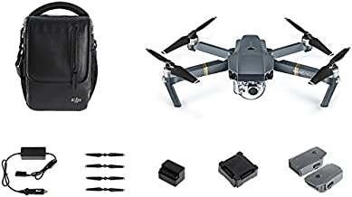 DJI Mavic Pro Fly More Combo: Foldable Propeller Quadcopter Drone Kit with Remote, 3 Batteries, 16GB MicroSD, Charging Hub...