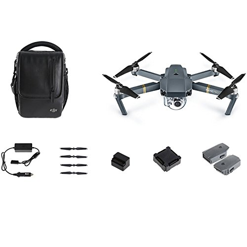 DJI Mavic Pro Fly More Combo: Foldable Propeller Quadcopter Drone Kit with Remote, 3 Batteries, 16GB...