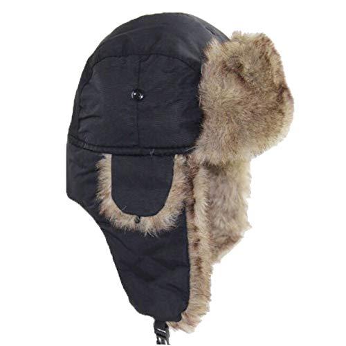JOYOTER Sombrero de Bombardero Unisex Sombreros de esquí al Aire Libre para Clima frío Invierno a Prueba de Viento Soldado Que Mantiene Caliente Gorra de Ciclismo