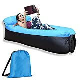 iqua Inflatable Lounger, Inflatable Couch Air Sofa, Waterproof Anti-Air Leaking Portable Beach Lounger, Easy to be Inflated for Camping, Pool, Outdoor, Picnics