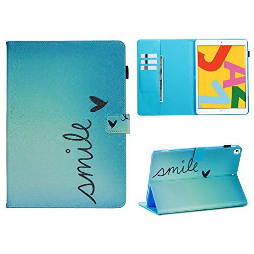 Vogu'SaNa Compatible for Tablet Case iPad 10.2 2019 Polyurethane Leather Case Protective Cover Pattern Flip Cover Sleep Wake Cover Stand Compartments Magnetic Cover Shell Bumper
