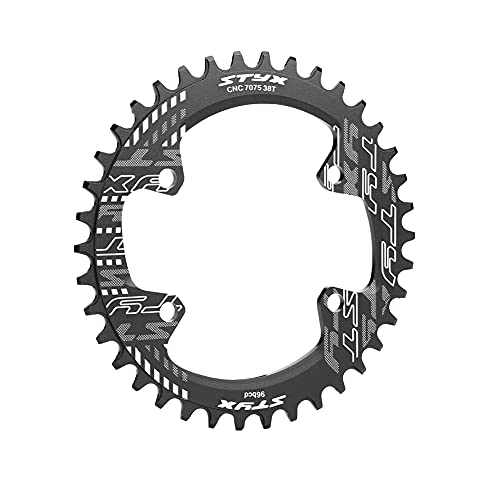 BCD Plato único estrecho de 96 MM de ancho para plato de bicicleta M6000 M7000 M8000, plato de aleación de aluminio 32/34/36 / 38T plato de bicicleta ancho y estrecho plato de bicicleta serie M6000 /
