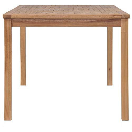 Montloxs Tavolo da Pranzo Pratico in Stile Moderno per Interni ed Esterni, Tavolo da Pranzo in Legno massello di Teak Color Naturale 150 x 90 x 77 cm (Lunghezza x Larghezza x Altezza)
