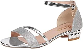 2019 Ladies Sandals Shoes Women L Luxury Sandals Ankle Mid Heel Block Party Open Toe Square Shoes Zapatos De Mujer
