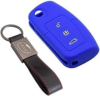 Amarillo + Naranja YLC 2 Piezas Silicona Funda para Llave de Coche Car Key Cover para Ford Mondeo Festiva Fiesta Focus 3 Botones