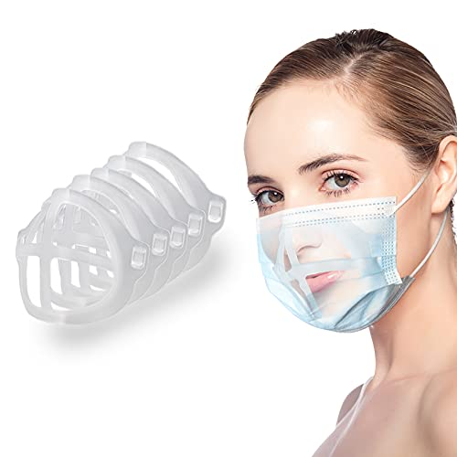 STARELO 3D-Ständer-Gesichtsmasken halterung Innerer Stützrahmen Mehr Platz für bequemes Atmen Lippenstift Schutz Mehrweg und waschbar 5 Stück (5)