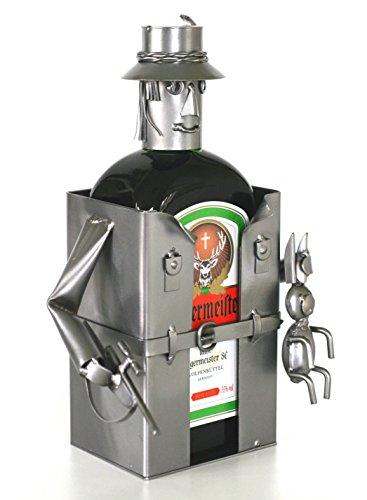 Schraubenmännchen JÄGER LIKÖRHALTER FLASCHENHALTER - Flaschen- Deko für Likör - handgefertigte Likörgeschenke - ausgefallene Geschenkidee