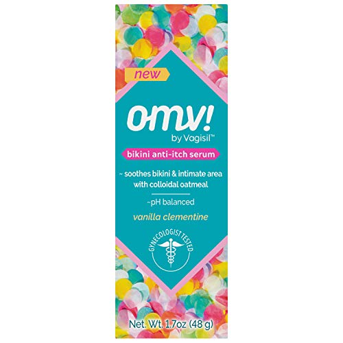 OMV! by Vagisil Bikini Anti-Itch Feminine Intimate Serum for Women, Gynecologist Tested, pH balanced, Gentle Formula Soothes and Cools Intimate Area - Vanilla Clementine Scent, 1.7 oz