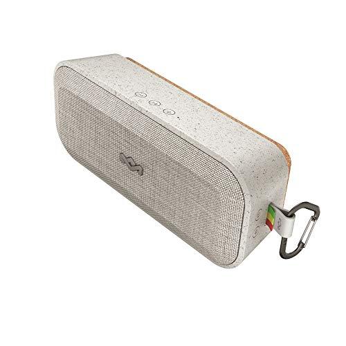 House of Marley No Bounds XL Bluetooth Lautsprecher, wasserdicht, staubdicht & sturzsicher IP67, schwimmfähig, 16 Stunden Akku, Karabiner, Schnellladung, sehr robust, Dual-Pairing, Mikrofon, grey