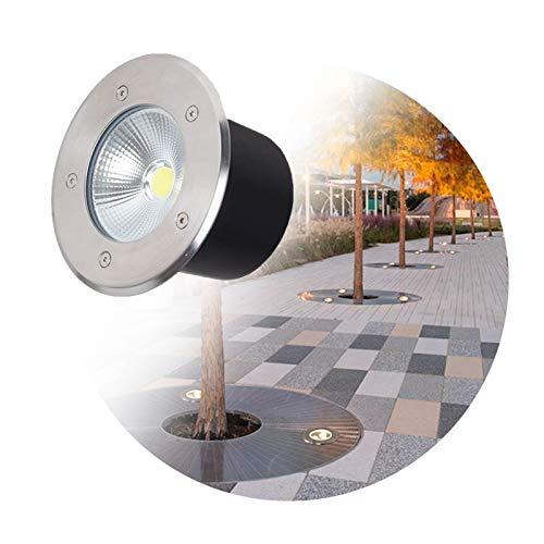 ASPZQ Luces del Paisaje Luces de Pozo LED AC85~265V Foco empotrable en el Suelo IP67 a Prueba de Agua para Entrada de Auto, Cubierta, escalón, iluminación Exterior de jardín Decoración navideña