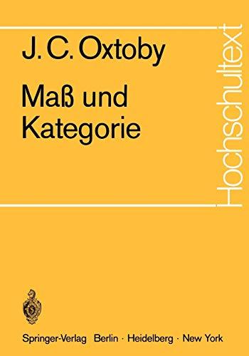 Maß und Kategorie (Hochschultext)