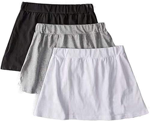 Shirt Extender, Adjustable Layering Fake Top Lower Sweep Set Skirt Half-Length Splitting A Version Unisex (Schwarz + Weiß + Grau, L(65-90KG))