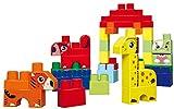 Jouets Ecoiffier -7781 - Baril bleu + briques à empiler Animaux Abrick Maxi – Jeu de construction pour enfants – 50 pièces – Dès 12 mois – Fabriqué en France