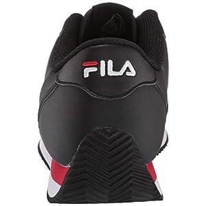 Fila mens Fila Province Men's Sneaker, Black/Red/White, 9.5 US