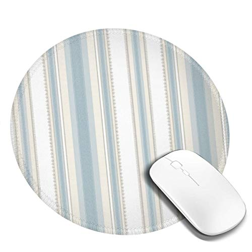 Round Mouse Pad Non-Slip Customized Rubber Base Mouse Mat Colonial Stripe Classic Blue Mousepad Washable Premium-Textured Gaming Mouse Mat for Laptop Office Working Keyboard 4 Pcs