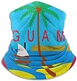Miedhki Guam Seamless Neck Gaiter Scarf Bandana Gesichtsmaske Nahtlose UV-Schutz für Motorrad Radfahren Reiten Laufen Stirnbänder Unise