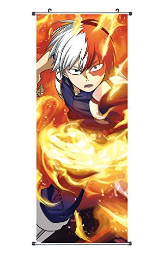CoolChange Großes My Hero Academia Rollbild | Kakemono aus Stoff | Poster 100x40cm | Motiv: Shoto Todoroki