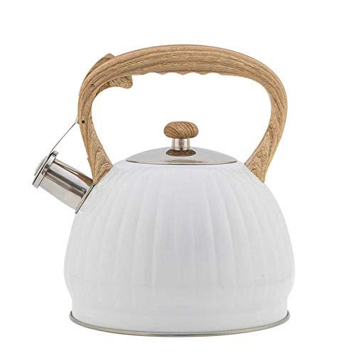 Camping Gaz Table de cuisson cuisinière Acier inoxydable Teapot, bouilloire Whistling thé, Stovetop Bouilloire avec poignée ergonomique bakélite, thé de qualité alimentaire Pot for Stove.3.5L