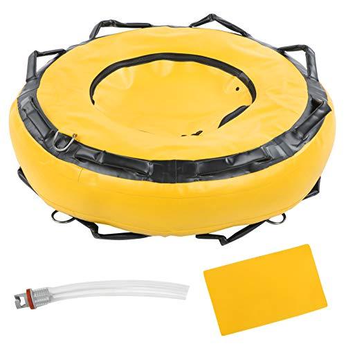 Lantro JS Flotador de Seguridad, boya de Buceo, Accesorio de señalización Resistente Flotador de Buceo 1000D para Deportes acuáticos(Yellow)