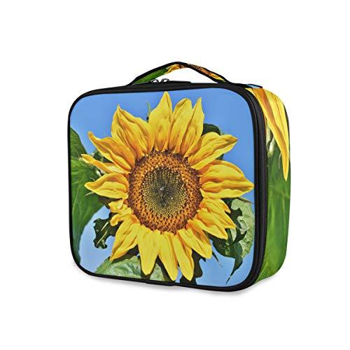 Sunflower Blossom Bloom Trousse de Maquillage Professionnelle Jaune