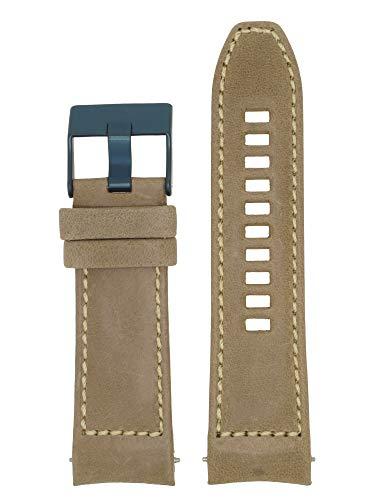 Correa de repuesto original LB-DZ4490 para reloj diésel DZ4490, piel, 26 mm, color beige