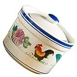 Cabilock Stufato di Ceramica Pentola con Coperchio Vapore Ciotola di Minestra Fumante Tazz...