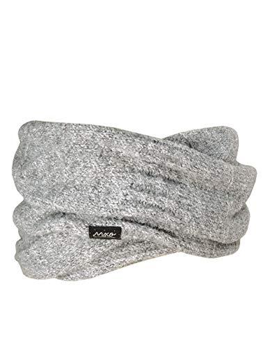 maximo Mädchen Loop einfarbig mit Effektgarn Schal, Grau (Graumeliert 5), (Herstellergröße: One...