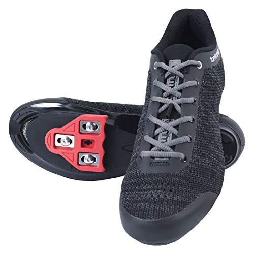 Tommaso Strada Aria Knit Lace Up Cycling Shoe with Delta Cleat, Black - 48