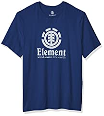 Cotton jersey open end short sleeve tee with authentic fit Element trim package