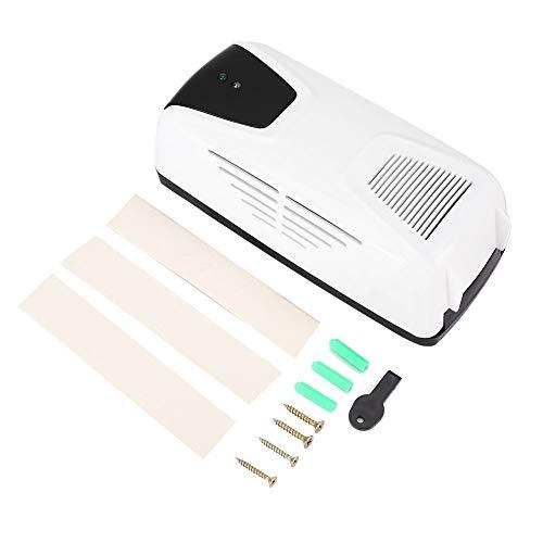 Dispensador de ambientador automático, 300 ml de montaje en pared / Dispensador de fragancia con sensor de luz independiente con función de sincronización, botella de perfume y orificios para colgar e