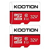KOOTION Micro SD 32GB Clase 10 Tarjeta Memoria MicroSDHC(U1 y A1) 32 Giga Memory Card Micro SD Card 32G 2 Pack con Adaptador para Telefonos,Cámara,Gopro,Alta Velocidad de Lectura hasta 100 MB/s