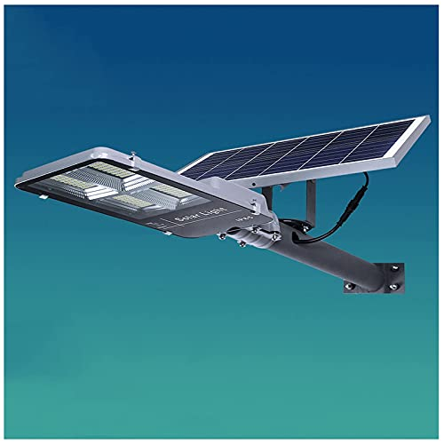 Led 100W / 200W / 300W Ip65 Luz De Poste De Energía Solar Impermeable Con Control Remoto Y Sensor De Luz Para Parques / Garajes / Iluminación De Caminos, 200W