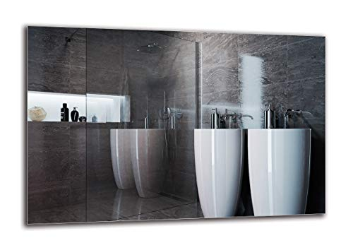 Espejo Standard - Espejo sin Marco - Dimensiones del Espejo 90x60 cm - Espejo de baño - Espejo de Pared - Baño - Sala de Estar - Cocina - Hall - M1ST-01-90x60 - ARTTOR