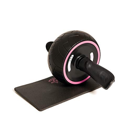 HEALTHYMODELLIFE PINC Aktiver Bauchmuskel-Roller mit Kniematte – ideal für Bauchmuskeltraining und Rumpfübungen – für Männer und Frauen – perfektes Heim-Fitnessgerät für Bauchmuskelübungen