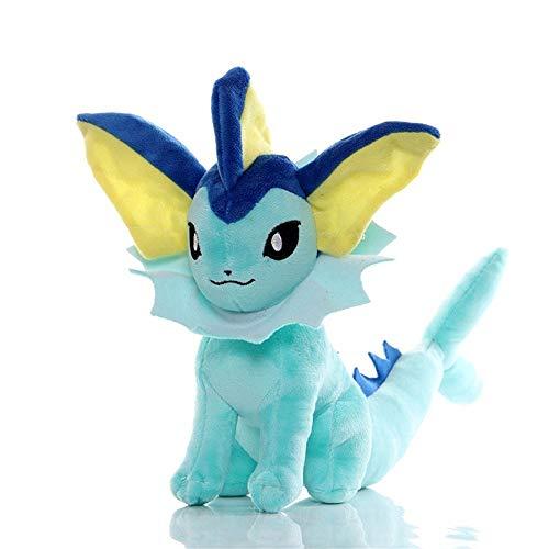 HHtoy Vaporeon - 20 cm Pokemon Juguetes de Peluche Almohada Suave Relleno muñeca Animal, 3 años +